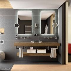 Compakt Worktop with 2 Integrated Sinks