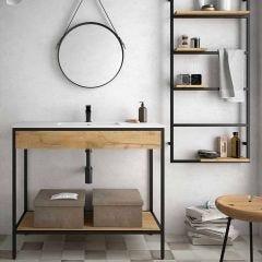Vinci Floor Standing Vanity with Inset Basin