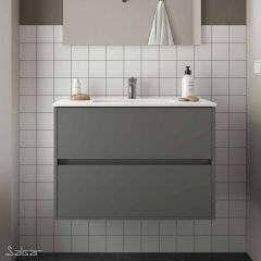 Noja Wall Hung 2 Drawer Vanity with 1 Taphole Basin