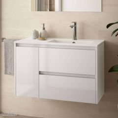 Noja Wall Hung 2 Drawer 1 Door Vanity with 1 Taphole Basin