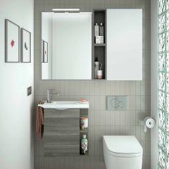 Martha Wall Hung 1 Door Vanity with 1 Taphole Basin