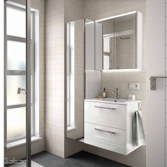 S35 Wall Hung 2 Drawer Vanity Unit & 1 Taphole Basin