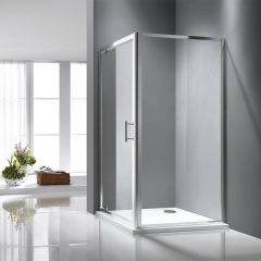 Rosery 6mm Pivot Shower Door with Side Panel