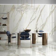 Cosmopolition Rectified Porcelain Floor & Wall Tile (Calacatta)