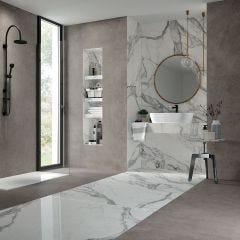 Jewels Rectified Porcelain Floor & Wall Tile (Statuario Lunensis)