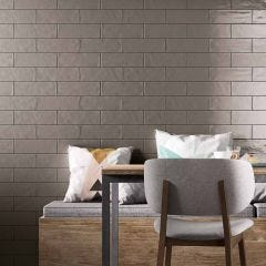 Brick Glossy Ceramic Floor & Wall Tile 10x30cm