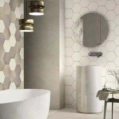 Eden Hex Porcelain Floor & Wall Tile 21x18cm