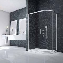 Merlyn Essence 8mm Framed 1 Door Offset Quad Shower Enclosure