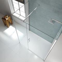 Merlyn Series 8 Frameless Hinge & Inline Shower Door