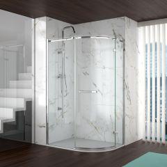 Merlyn Series 8 Frameless 1 Door Offset Quadrant Shower Enclosure