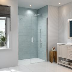Merlyn Series 8 Frameless Pivot and Inline Shower Door