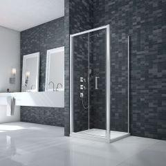 Merlyn Essence Framed 8mm Bifold Shower Door with Side Panel