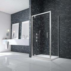 Merlyn Essence Framed 8mm Pivot Shower Door with Side Panel