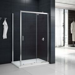 Merlyn Primo 6mm Sliding Shower Door with Side Panel