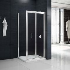 Merlyn Primo 6mm Loft Height Bifold Shower Door with Side Panel