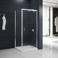 Merlyn Primo 6mm Pivot Shower Door with Side Panel