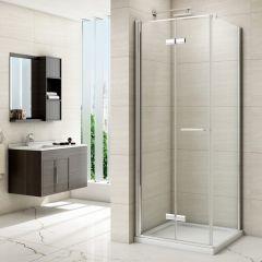 Merlyn Series 8 Frameless Bifold Shower Door with Side Panel