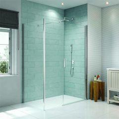 Merlyn Series 8 Frameless Pivot Shower Door with Inline & Side Panels