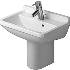 Duravit Starck 3  Basin (1 taphole) with Semi-Pedestal