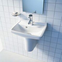 Duravit Starck 3 Compact Wash Basin (1 taphole) with Semi-Pedestal