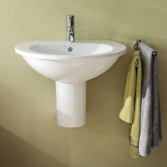 Duravit Darling New Basin (1 taphole) with Semi-Pedestal