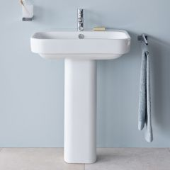 Duravit Happy D.2  Basin (1 taphole) with Full Pedestal