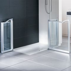 Easa Evolution Shower Enclosure Pack with Level Access Tray (Chrome & Glass)
