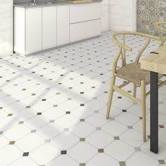 Vodevil Taco Dome Porcelain Floor & Wall Tile 4x4cm