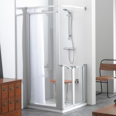 Easa Evolution Shower Enclosure Pack with Access Tray (Chrome & Glass)