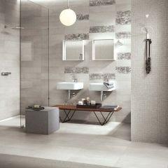 Palatina Rectified Polished Porcelain Floor & Wall Tile (White)
