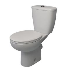 Atlas Smooth Close Coupled Toilet with Seat