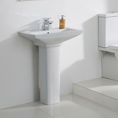 Lucy 585mm 1 Taphole Basin and Full Pedestal