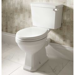 Roxton Close Coupled Toilet Pan and 6/4 L Lever Cistern (No Seat)