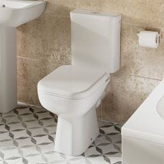 Senner Close Coupled Toilet Pan and Cistern with Soft Close Seat