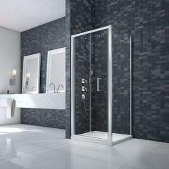 Merlyn Essence 8mm Framed 1000mm Bifold Shower Door & 900mm Side Panel