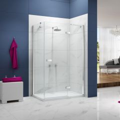 Merlyn Essence 8mm Frameless 1500+ mm Hinge Shower Door & Inline Panel with 900mm Side Panel