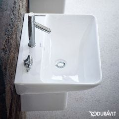 Duravit Me by Starck 650mm Wash Basin (1 taphole) and Semi-Pedestal