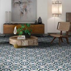 Harrogate Porcelain Floor & Wall Tile 33x33cm (Blue)