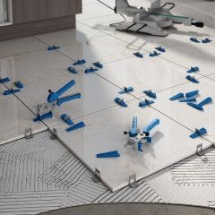 Tile Levelling Kit with 200 Tile Spacers (2 mm) and Metal Pliers