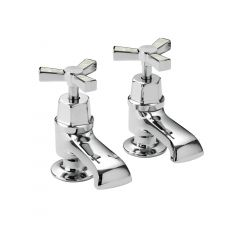 Heritage Gracechurch Bath Taps (Chrome & Mother of Pearl)