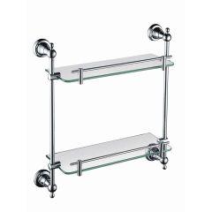 Heritage Holborn Double Glass Shelf (Chrome)
