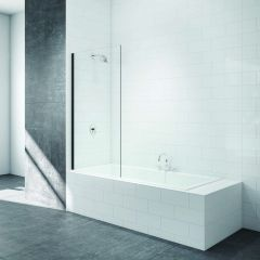 Merlyn Black Fixed Square Bathscreen 800x1500mm