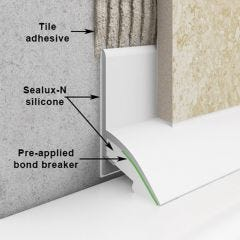 Sealux Regular 25mm Seal for Baths or Shower Trays (Pack of 10)