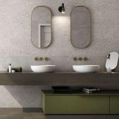 Symi Matt Ceramic Décor Tile (Cream)