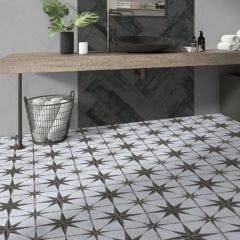 Glasgow Porcelain Floor & Wall Tile 46x46cm (Grey)