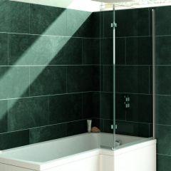Verde L Shaped Fixed Bath Screen