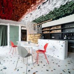Stracciatella Matt Porcelain Floor & Wall Tile 60x60cm (White)