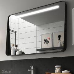Salgar Apolo 1000x700mm LED Mirror with Shelf (Matt Black)