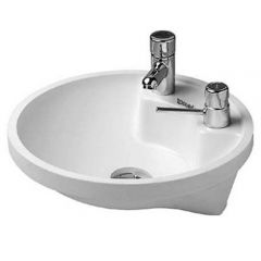 Duravit Architec 400mm Undercounter Basin with Left Hand Taphole and Right Hand Hole for Soap Dispenser