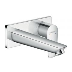 Hansgrohe Talis E Single Lever Basin Mixer Tap for Concealed Installation Wall Mounted with Spout 22.5 cm